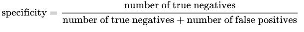特异性公式