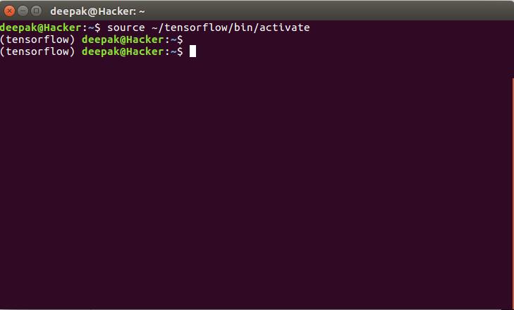 tensorflow命令提示符